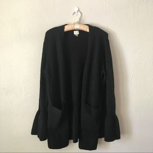 A New Day Black Bell Sleeve Cardigan